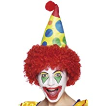 Smiffys Clown Hat with Wig