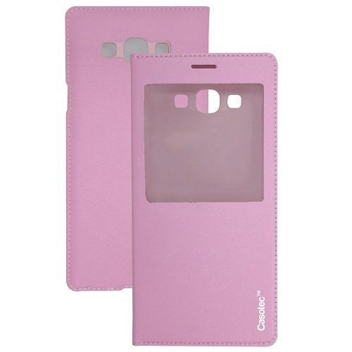 Casotec Premium Caller-id Flip Case Cover for Samsung Galaxy A8 - Baby Pink  available at amazon for Rs.149