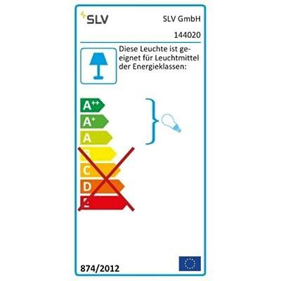 SLV 1-Phasen Pendelleuchte Light Eye GU10, inklusiv Adapter, schwarz/chrom 144020