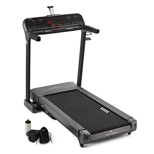 CAPITAL SPORTS Pacemaker Z-77 Laufband Heimtrainer (20 km/h Top Speed, große Lauffläche, Aufstellwinkel 15°, großes Display, iPad-Halterung, MP3-Anschluss, Pulssensoren, klappbar)