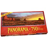 Panorama 750 Piece Puzzle - Monument Valley, Arizona - Over 3 Feet Wide by Milton Bradley