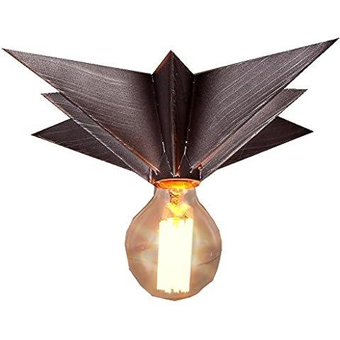 FWEF Pasillo de Lron botón lámpara Retro restaurante techo lámpara de pared personalizado de salón de restaurante creativo arte industrial aplique escalera 34 * 17cm
