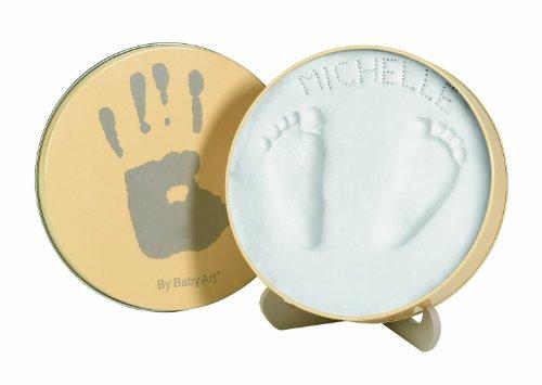 Baby Art - 34120065 - Magic Box - Confezione in metallo con pasta modellabile per calco delle manine o dei piedini bebé