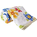 TRUSTFUL Cotton Sunflower Design Print Single Bed Reversible AC Blanket | Dohar | Quilt | Comforter | Duvet (Polycotton, Multicolor)