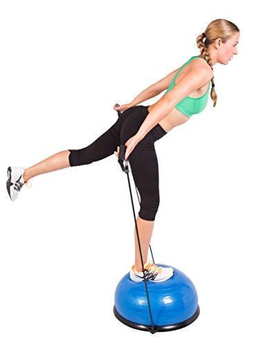 SportPlus Ø62 cm Balance Ball/Balance Trainer mit Zugbändern, beidseitig nutzbar, GS-geprüft, SP-GB-001 - 5