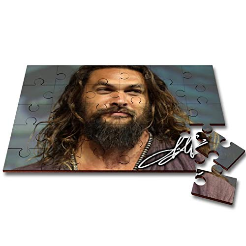 Star Prints UK Jason Momoa - Game of Thrones - Aquaman 2 Wooden 30 Piece Jigsaw Autograph Print with Presentation Gift Box