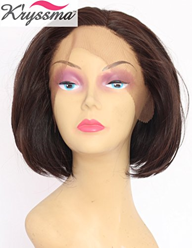 kryssma-new-series-brown-short-wigs-for-office-lady-beautiful-bob-straight-side-part-synthetic-hair-