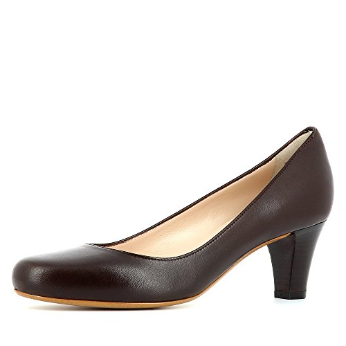 Evita Shoes Giusy Damen Pumps Glattleder Dunkelbraun 35