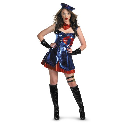 Joe Costume I Gi (G.I. Joe Sassy Cobra Deluxe Costume Adult Small)