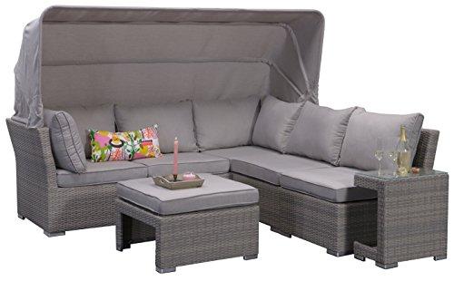 Preisvergleich Produktbild Garden Impressions 07198GT Lounge Set, Kuba Shadow, 226 x 221 x 75 cm, Grau