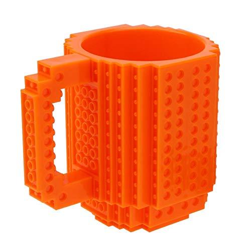 Abnehmbare Bausteine, Tee, Kaffeetasse, DIY Block Puzzle Tasse Geschenk Orange