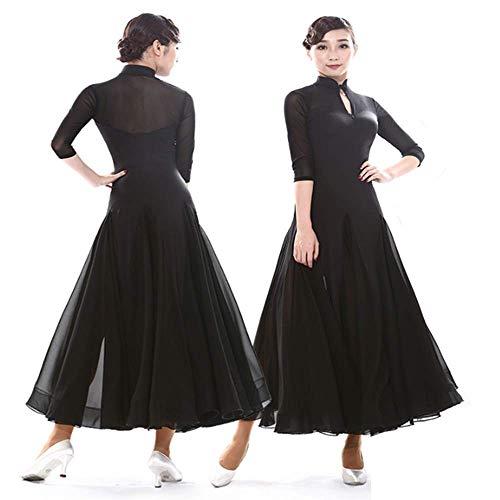 erner Übungsrock Big Swing Retro Cheongsam Erwachsene Gesellschaftstanz Übungskleidung,XL ()