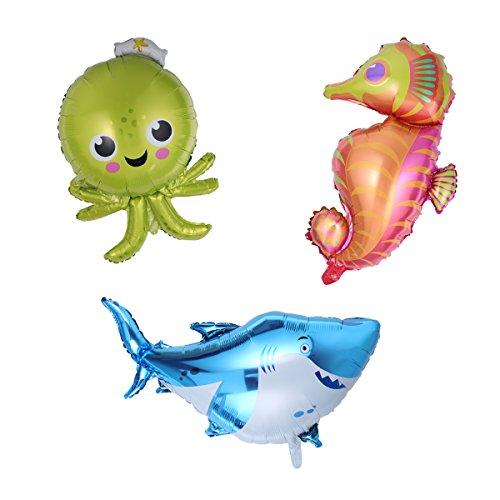 TOYMYTOY 3Pcs 98cm Riesen Sea Animal Folienballons für -