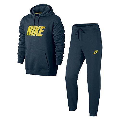 Nike M NSW TRK SUIT FLC GX Jogginghose, Herren Blau (squadron blue / electrolime / electrolime)
