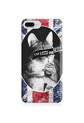 COVER Katze cat Tier britisch Fahne Design Handy Hülle Case 3D-Druck Top-Qualität kratzfest Apple iPhone 8 Plus