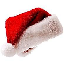 Meiwash Cappello di Babbo Natale Cappello di Natale Cappello di Peluche di  Lusso Bambino Cappello Adulto 13086c320a49