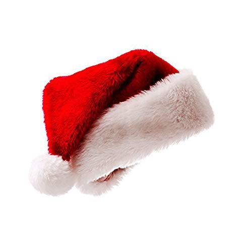 Meiwash Weihnachtsmütze Nikolausmütze Luxus Plüsch Hut Kind Erwachsene Hut...