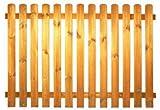StaketenZaun 'Standard' 180x120/120 cm - gerade – kdi / V2A Edelstahl Schrauben verschraubt - aus frischem Holz gehobelt – gerade Ausführung - kesseldruckimprägniert