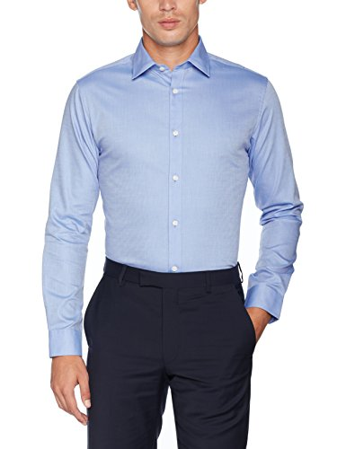 SELECTED HOMME Shdtwopen-Fun Shirt Ls Noos, Camicia Formale Uomo Blu (Light Blue)