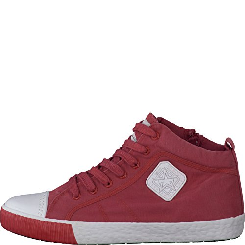 s.Oliver Herrenschuhe 5-5-15205-28 Modischer Herren Freizeitschuh, Sneaker, High Top Sneaker, Sommerschuh mit Schnürung Red