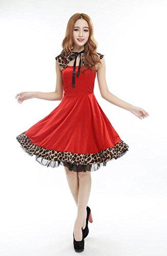 Marcus R Caveggf Frauen Santa Sexy Leopard Weihnachten Damen Erwachsene Plus Size Kostüm Deluxe Kostüm Claus Fräulein Frau Outfit