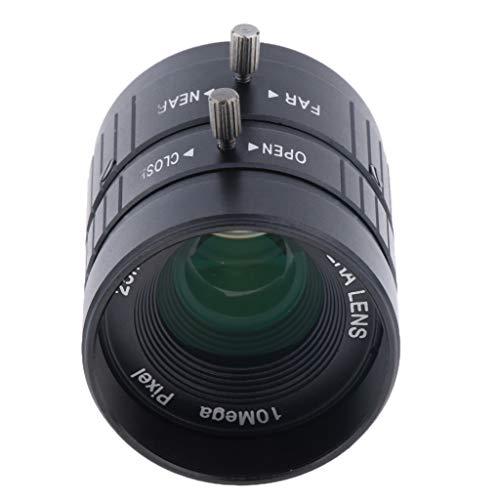 perfk HD 5MP 25 mm f/1,4 manuelle IRIS Festbrennweite CS C Mount Objektiv Format 2/3 '' für CCTV Überwachungskamera (Schwarz) - C-mount Cs-mount