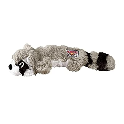 KONG Scrunch Knots Raccoon Dog Toy, Small/Medium by Kong