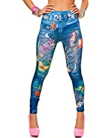 24brands - Damen Leggings / enganliegende Hose in Jeans-Look - 2000