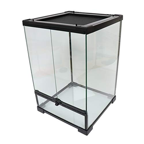 Reptile Mini Tall Glass Terrarium/Vivarium - 30x30x45cm / 12