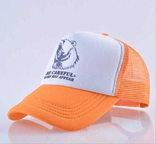 LJZXXK Hysteresenhut für Männer Sommer atmungsaktives Mesh Baseball Cap Frauen Outdoor Camouflage Trucker 56-60cm Orange - Orange Camouflage Cap