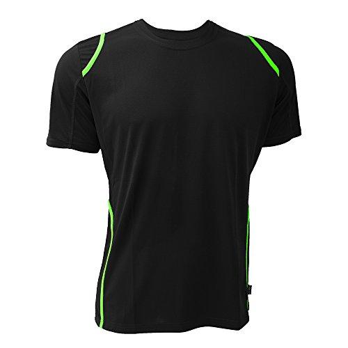Gamegear Herren Cooltex T-Shirt Schwarz/Flureszierendes Orange