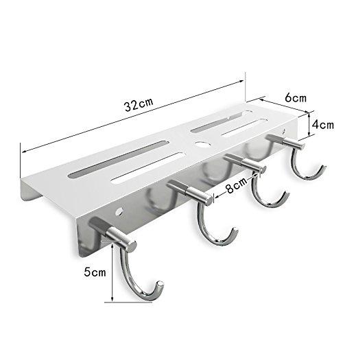 Küchenregal Rostfreier Stahl, An Der Wand Montiert, Klebstoff Aufbewahrungsmesser, Hackbrett, Handtuch,Drilling -