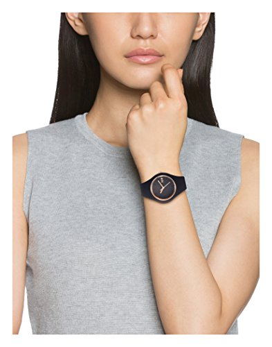 Ice-Watch - ICE glam Black Rose-Gold - Schwarze Damenuhr mit Silikonarmband
