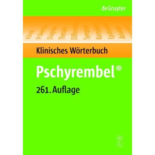 Pdf] pschyrembel klinisches wörterbuch (261. Auflage) kostenlos.