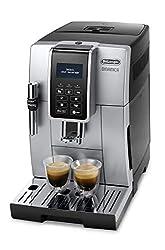 De'Longhi Dinamica ECAM 350.35.SB Kaffeevollautomat (Digitaldisplay, Profi-Aufschäumdüse, Lieblingsgetränke auf Knopfdruck, Herausnehmbare Brühgruppe, 2-Tassen-Funktion) silber