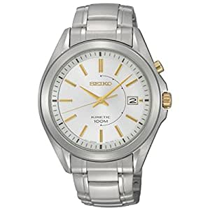 Seiko Men's Automatic Watch with Silver Dial Analogue Display and Silver Stainless Steel Bracelet SKA525P1