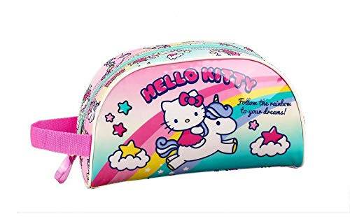 Hello Kitty Candy Unicorns Neceser, Bolsa de Aseo Adaptable a Carro