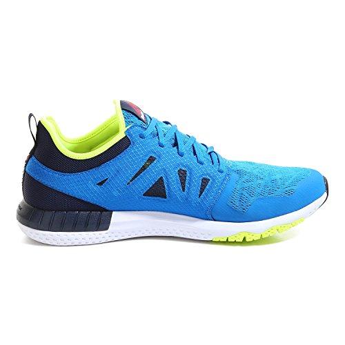Reebok Chaussures Running ZPRINT 3D homme instinct blue-coll navy-solar yellow-pewter