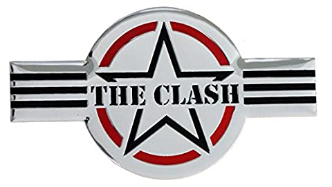 The CLASH Logo, Official Original Licensed Artwork, 9cm - Metal Sticker DECAL