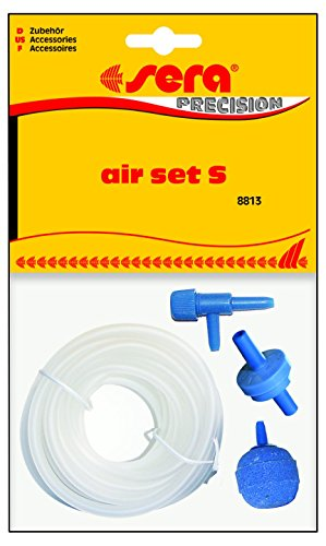 """sera 08813 air set """"S"""" incl. 2 m Schlauch - Enthält alles was u.a. zum Betrieb eines sera L-Filters eines Aquariums bis 200 l nötig ist"""