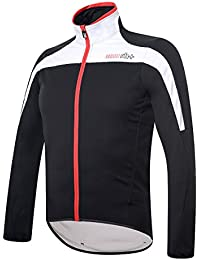 RH + Space Jacket blk-wh-red L, chaquetas (Ciclismo) Hombre, black-white-red, L
