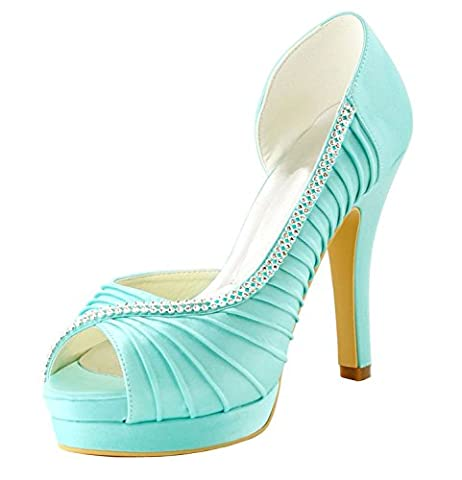Minitoo , Chaussures de mariage tendance femme - turquoise - Turquoise-12cm Heel,
