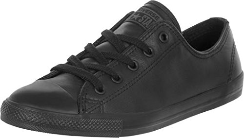 Converse All Star Dainty Leather Ox, Scarpe W Nero (nero)