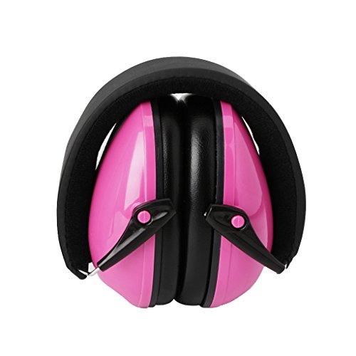 Preisvergleich Produktbild ECMQS Gehörschutz für Erwachsene und Kinder / Kompakt,  Komfortabel und Faltbarer Gehörschützer / Verstellbarer Ohrschützer (Rosa)