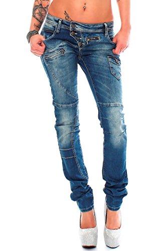 Cipo & Baxx -  Jeans  - straight - Donna Blau 30W x 32L