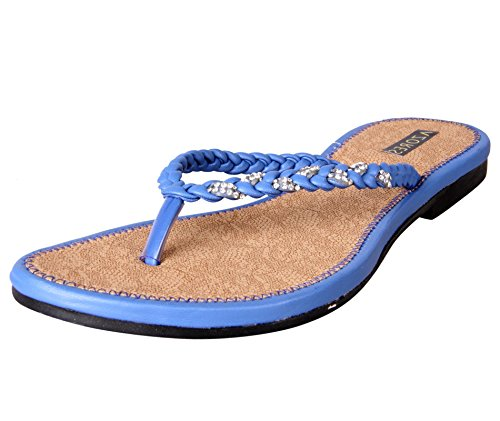 Azores Women's Casual PM Flats - Blue