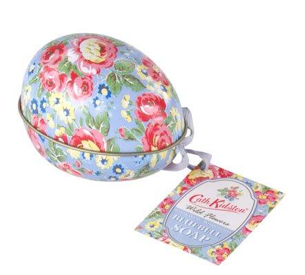 Cath Kidston Bluebell-Souvenir a forma di uovo con motivo floreale, In confezione regalo In latta