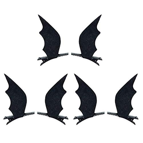 ZOYLINK 6PCS Hair Clip Creative Bat Wings Hair Barrette Hair Pin for Halloween Party -