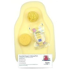 Hygan Foam Bath Support & Sponge Pack