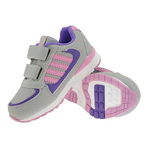 GALLUX - Kinder Sneaker tolle bunte Schuhe Grau